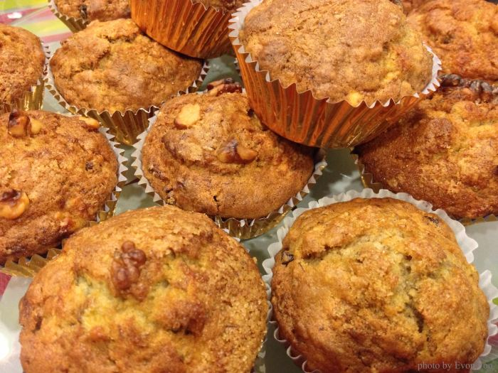 yummy banana & nut muffins from mum
