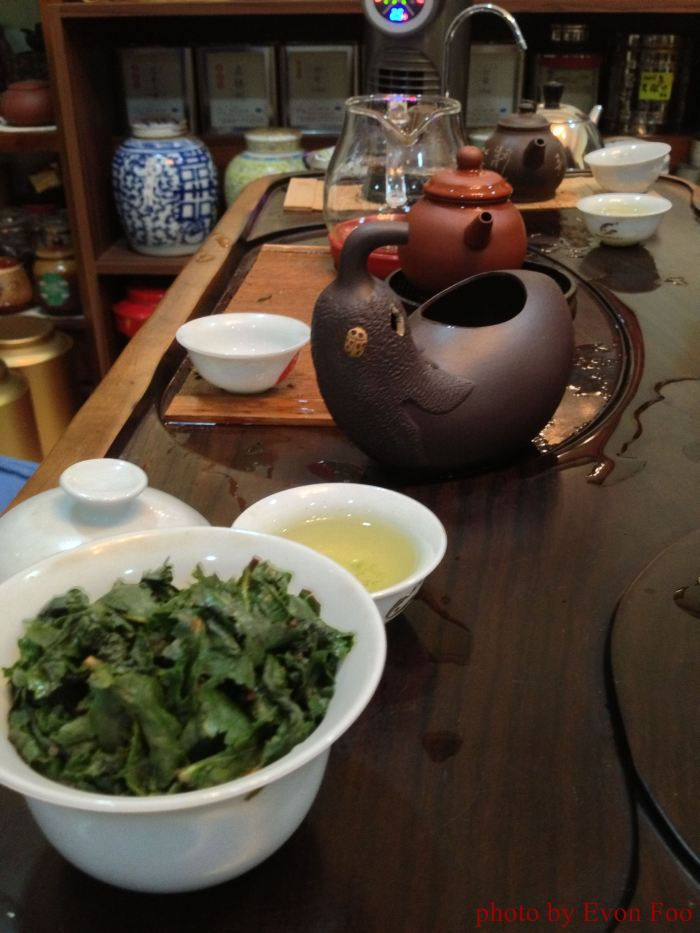 scented tie guan yin green tea, very nice...
