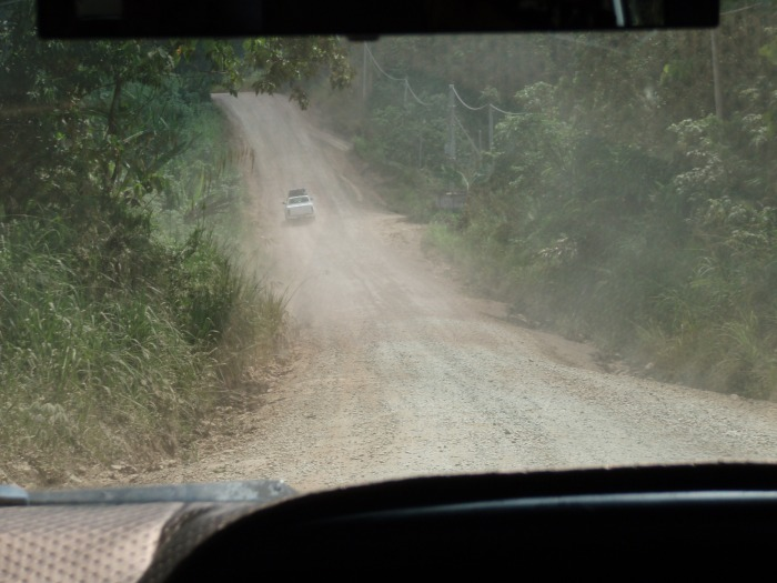 the last part of the bumpy ride to BCCM Sapulut after we got off the main road