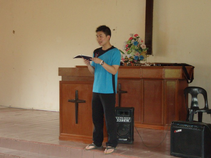 Dr. Michael Teng reading the scripture in Malay, wonderfully done!John 5:1-18 / Yohanes 5:1-18