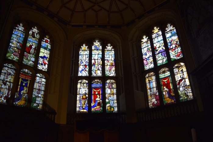 the stained glass that is said to rival the windows of King's College Chapel, Cambridge