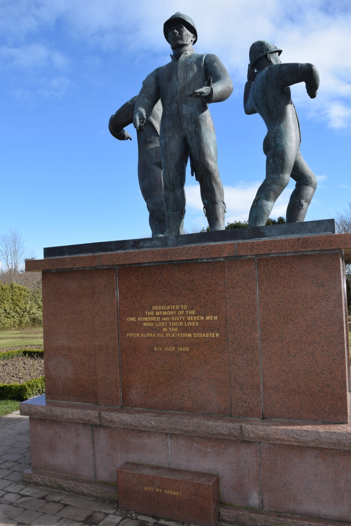 North Sea Memorial for the Piper Alpha tragedy