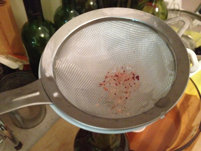 don't forget to use a sieve during the bottling process