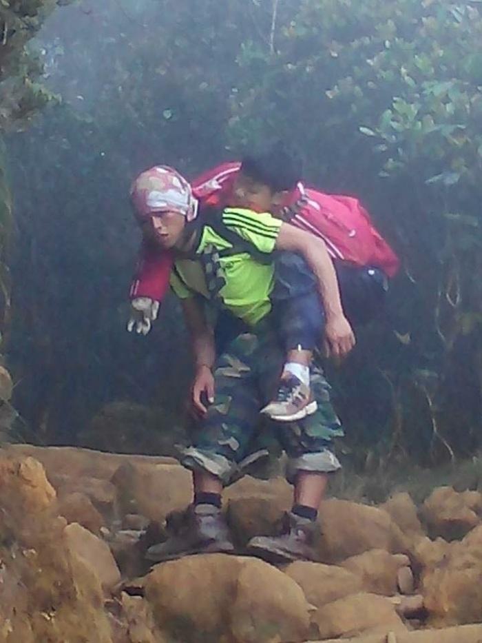 mountain guide Mhd Rizuan Kauhinin photo source: Sabah Parks