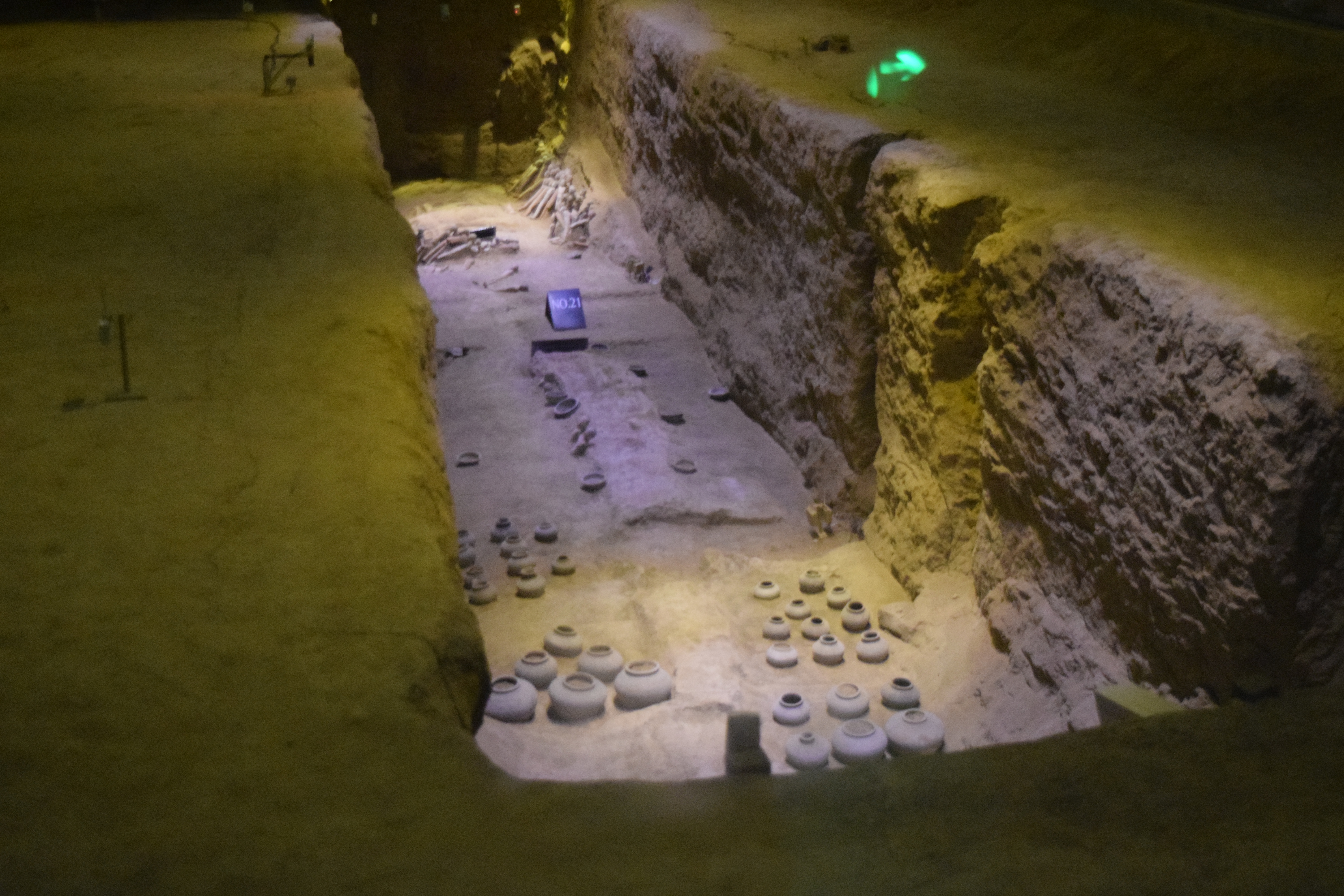 encased underground museum with state-of-the-art relic-protection technology that controls the temperature and humidity