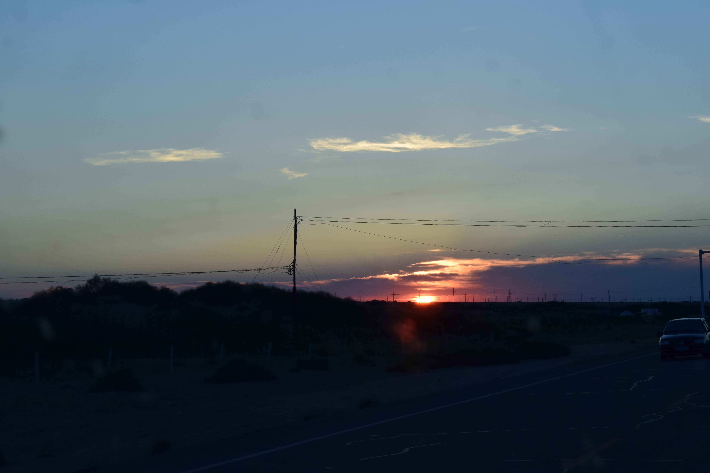 sunset in Xinjiang