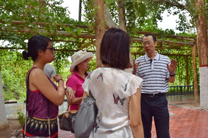 our tour guide was late so our host Mr Zhang took up the role as a part-time guide temporarily :)