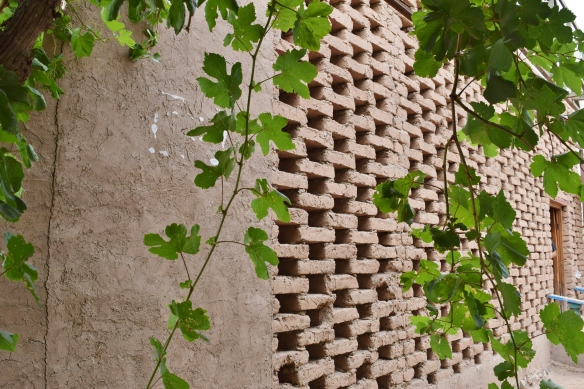 another view of the external wall of the drying house