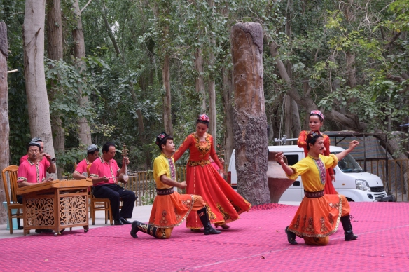 music and dance performance by the Uyghurs