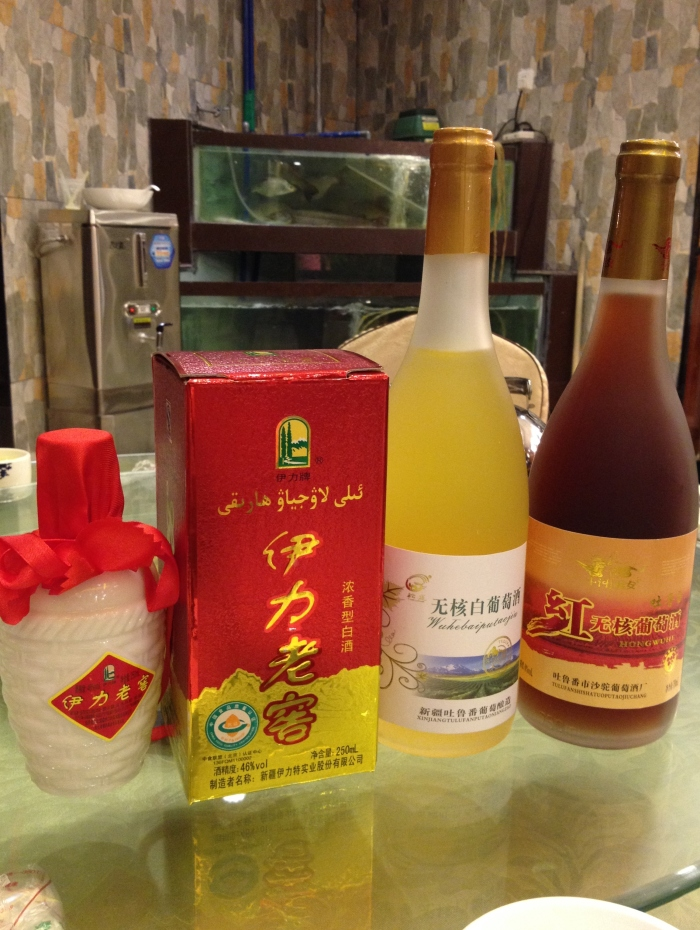 fermented sorghum distilled spirit (高梁酒) and wines the wines have very low alcohol content of only 8% and taste like grape juice