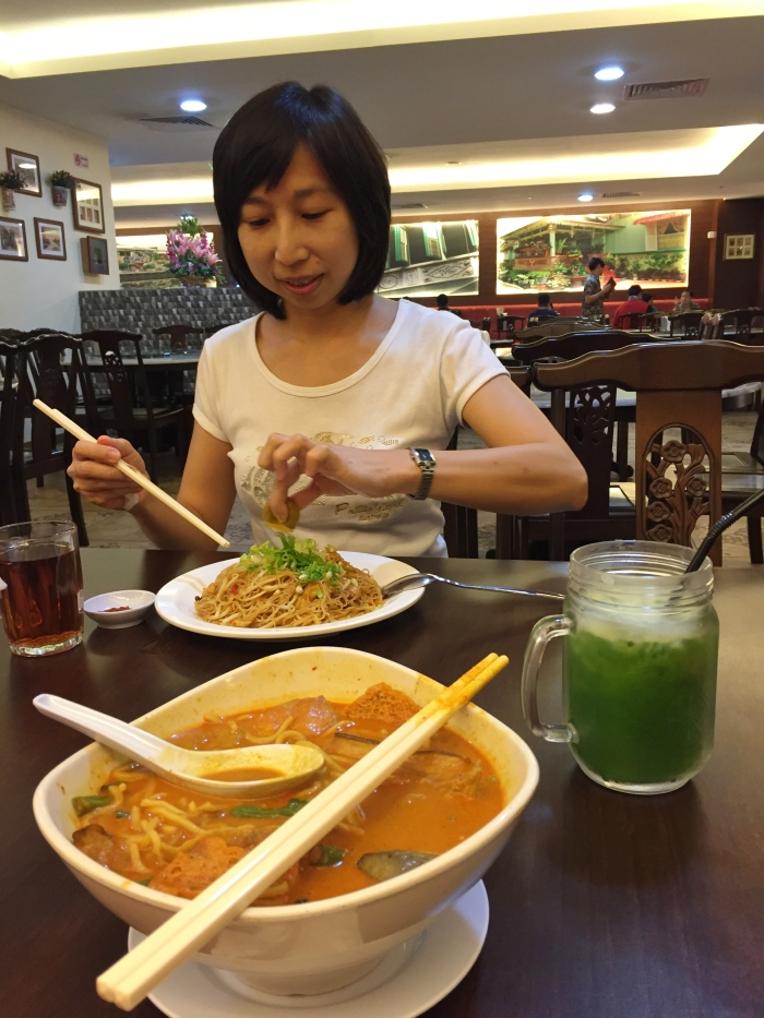 went shopping with best friend and we tried out a new restaurant that served nyonya food. food was not bad and loved the cucumber juice with sour plums!