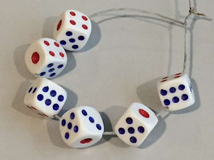 Japson helped me drilled these real dice for my jewellery projects, I'm over the moon!!!
