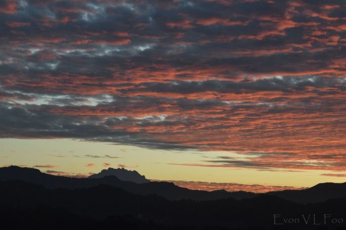 mt kinabalu in morning 625am