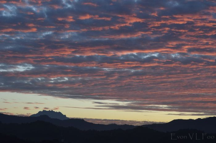 mt kinabalu in morning 627am