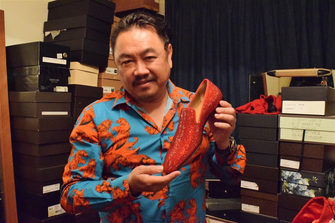 profile of datuk gordon leong, bohemian, boho-chic apartment, interview with datuk gordon leong, designer shoes, Louboutin men's shoes, Gucci men's shoes