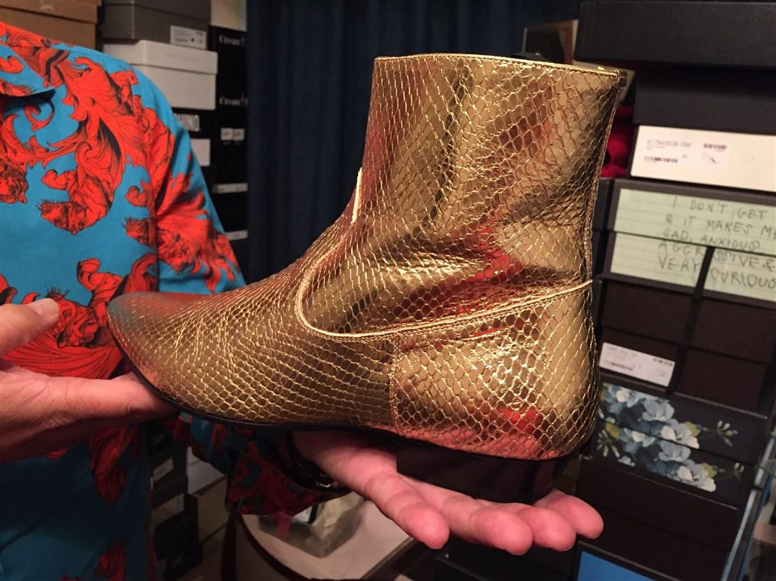 profile of datuk gordon leong, bohemian, boho-chic apartment, interview with datuk gordon leong, designer shoes, Yves Saint Laurent men's shoes
